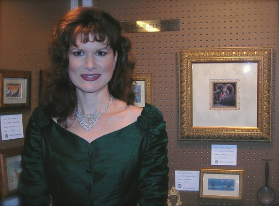 Rachelle Siegrist at the 2004 Southeastern Wildlife Exposition in Charleston, SC