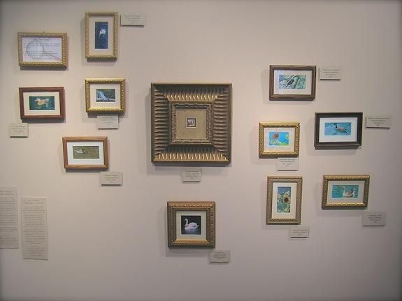 Siegrist miniature paintings on display at the Meridian Arts Gallery in Huntsville, AL