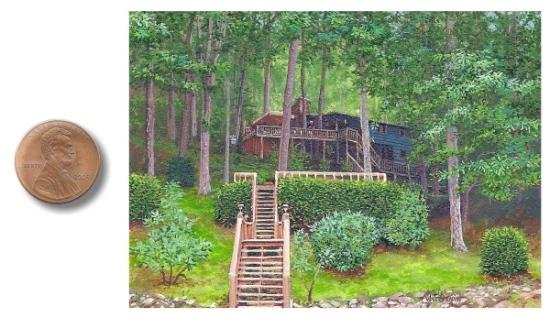 landscape miniature painting by Wes Siegrist