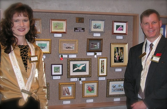Wes and Rachelle Siegrist at the 2004 Miniature Art Society of Florida's International Miniature Art Show