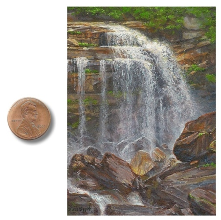 painting of Whitewater Falls by Wes Siegrist