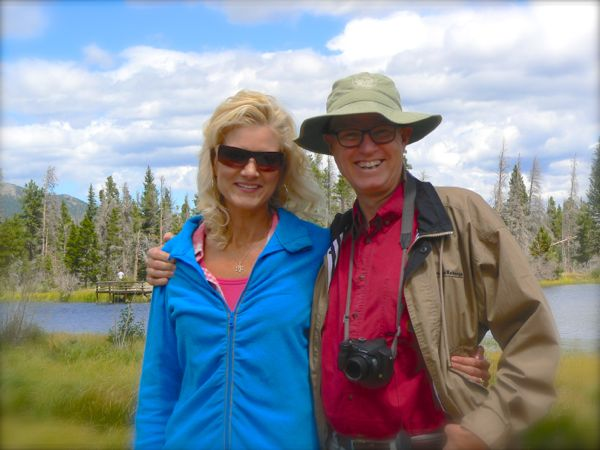wes and rachelle siegrist in rocky montain national park