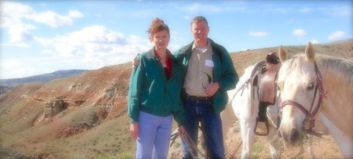 Horseback riding in Wyoming as part of the SKB Workshop in Dubois