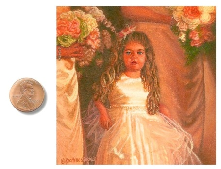 Flower Girl portrait painting by_Rachelle_Siegrist