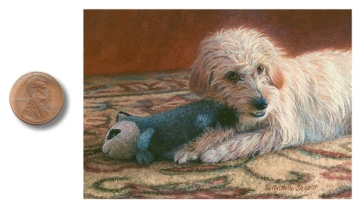 dog painting dog portrait by rachelle siegrist