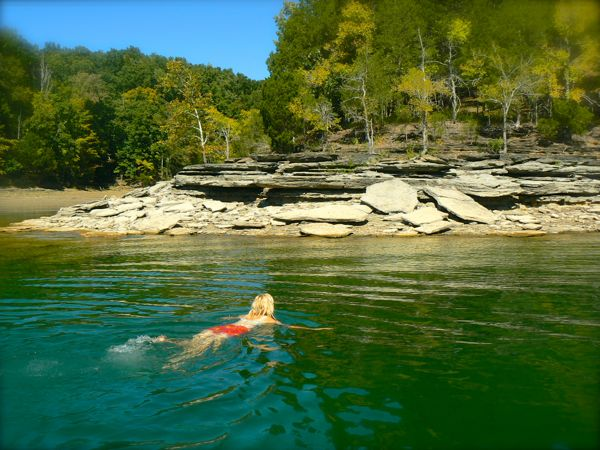 rachelle siegrist swimming at dale hollow lakejpg