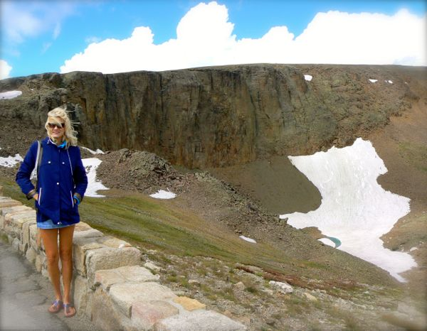 rachelle siegrist with snow skiers in rocky mountain national park