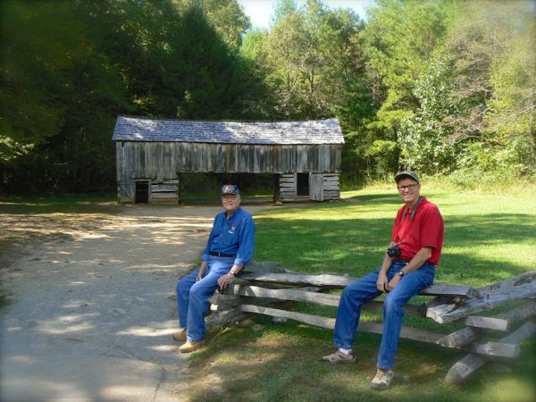 wes and george siegrist in cades cove