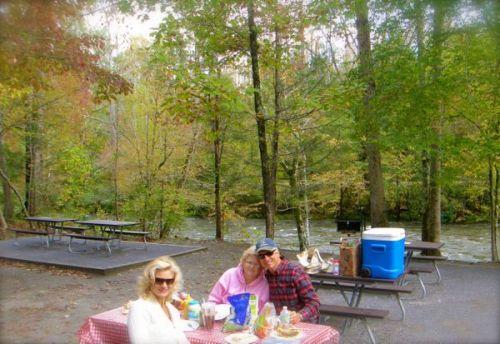 picnicing at metcalf bottoms