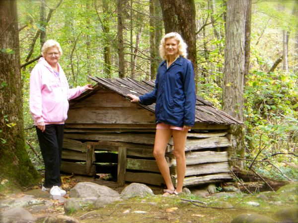 rachelle siegrist with cabin in roaring fork motor trail