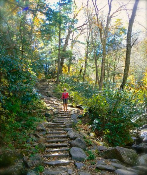 rachelle siegrist on chimney tops trail