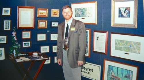 Wes Siegrist at FONZ Art Show in 1999