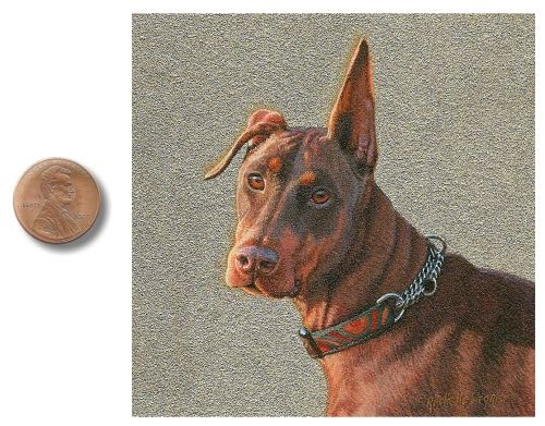 Doberman Pinscher Dog painting by Rcahelle Siegrist