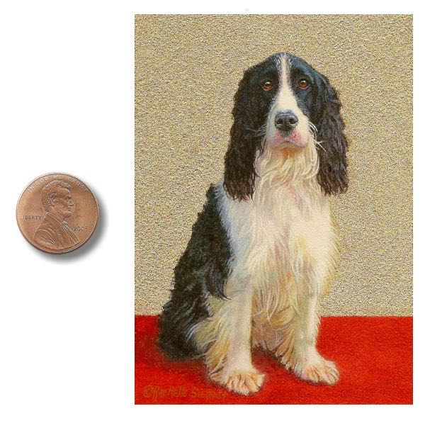 english springer spaniel dog painting by Rachelle Siegrist