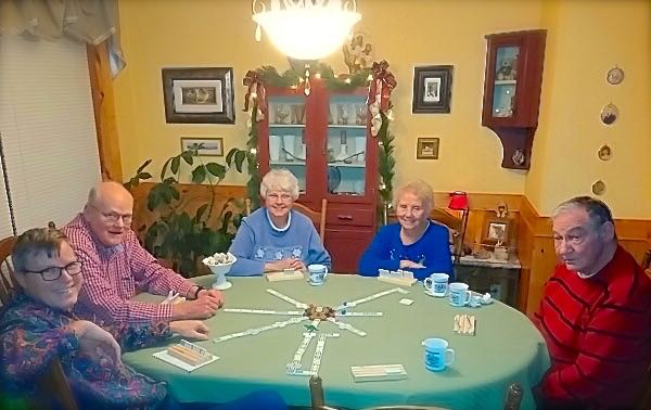 mexican train at Christmas time