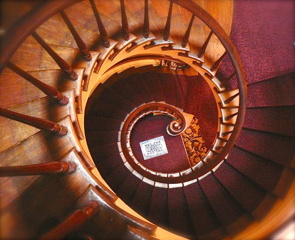spiral staircase in the lanier mansion