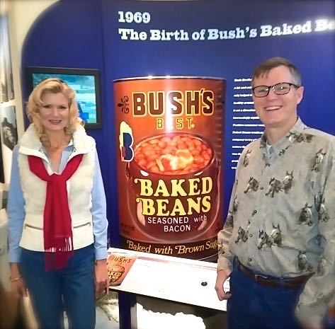 wes and rachelle siegrist at bush's visitor center