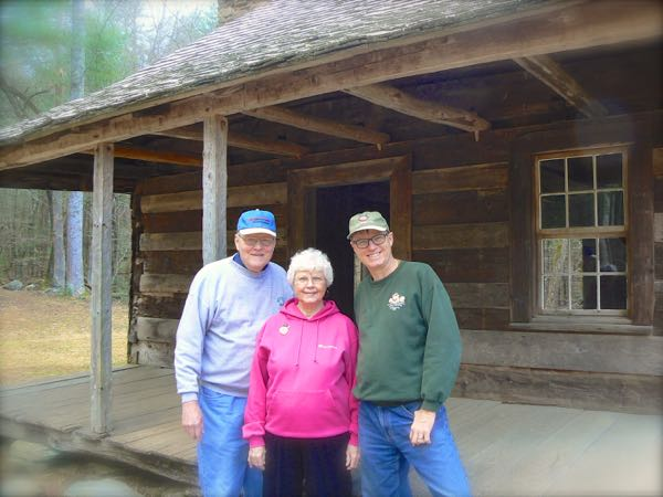 wes siegrist with carter shields cabin