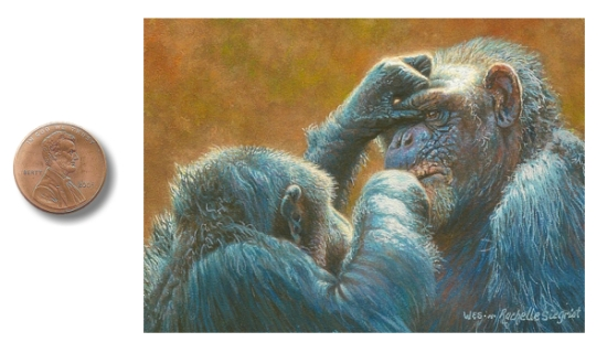 chimpanzee painting by wes and rachelle siegrist