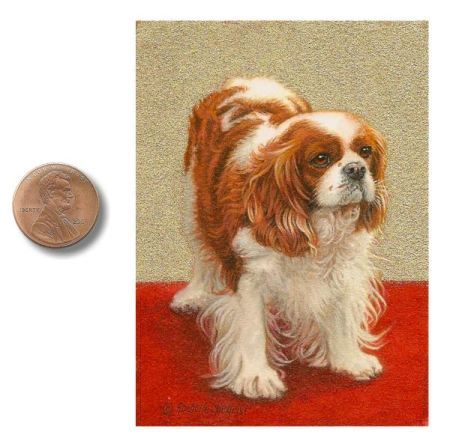 Cavalier King Charles Spaniel painting by Rachelle Siegrist