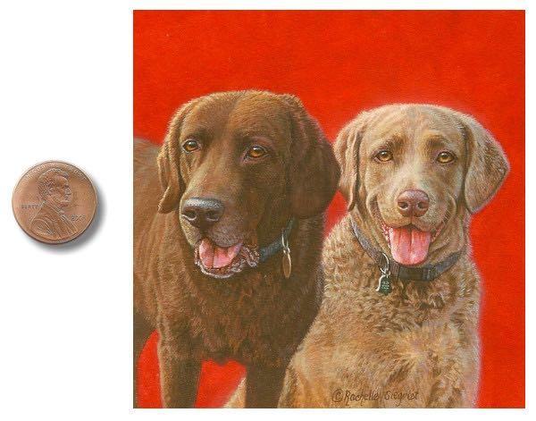 labrador retriever sporting dog paintings