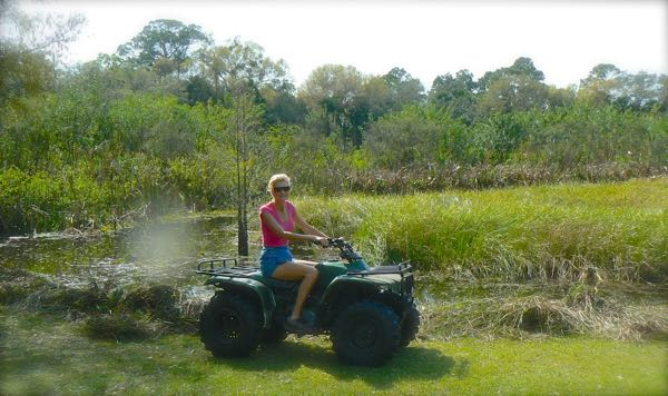 rachelle siegrist riding a 4-wheeler