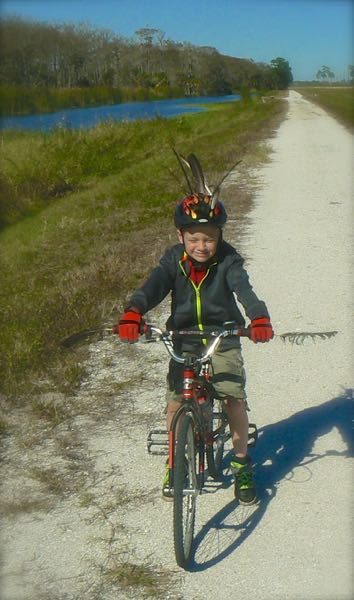 riding bikes at Taylor Creek Stormwater Treatment Area