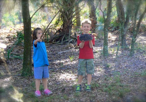 tyler and haydyn at grassy island trail
