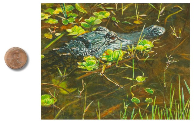 alligator painting