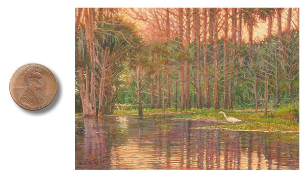 Florida landscape painting great white egret painting by_Wes_Siegrist