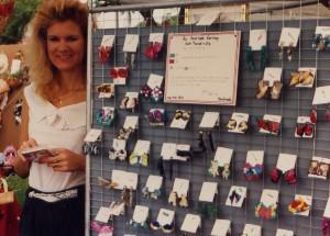 Rachelle Siegrist at an art show in 1992