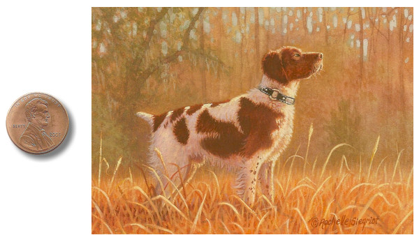 Brittany Spaniel Sporting dog painting commission