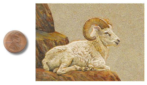 Dall Ram painting by_Wes_Siegrist