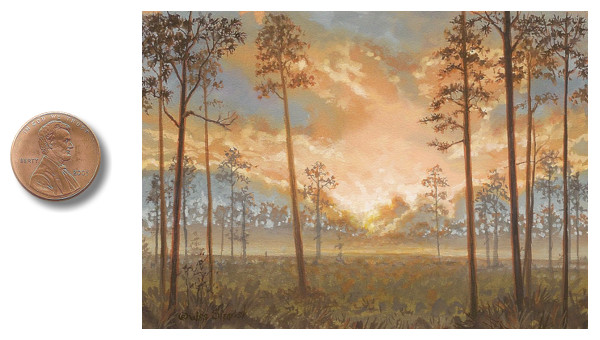 southern pine lands landscape painting by wes siegrist