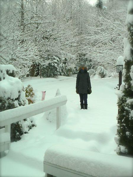 rachelle siegrist in snow in smokies
