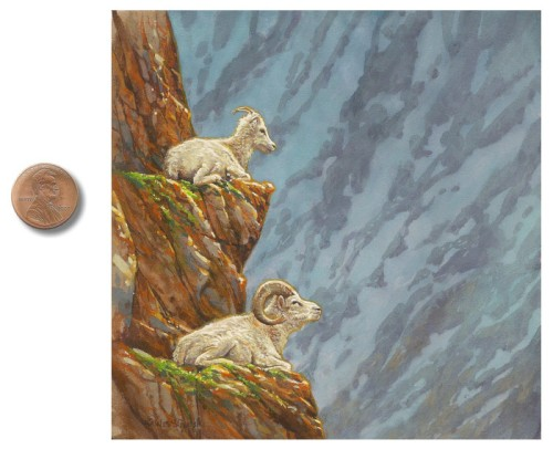 bighorn sheep painting by Wes_Siegrist