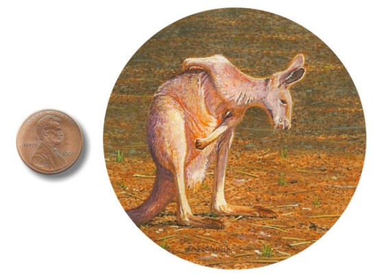 kangaroo painting miniature_by_Wes_Siegrist1