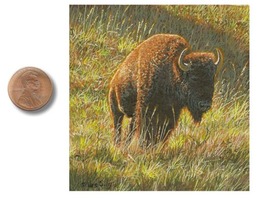 Bison painting by_Wes_Siegrist