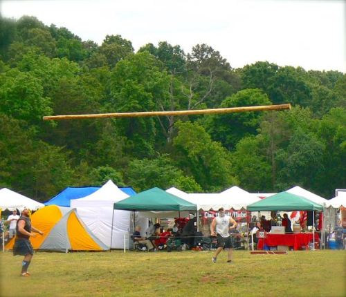 caber toss at smoky mountain scottish festival and games2jpg