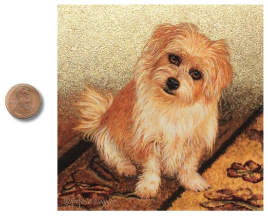 commission dog portrait painting by Rachelle Siegrist
