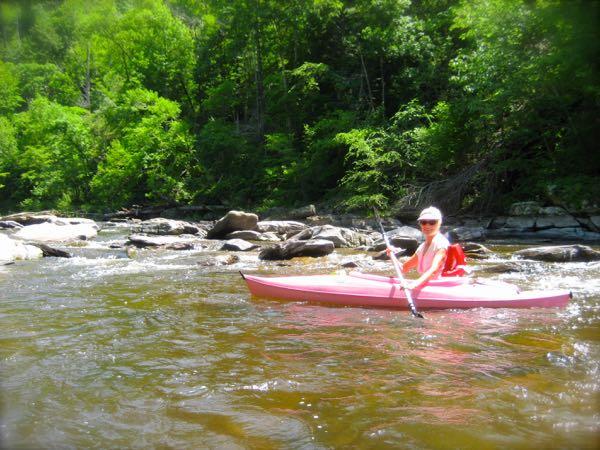rachelle siegrist kayaking in abrams creek