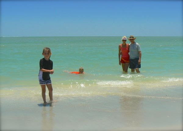 rachelle siegrist with family at Lovers Key state park