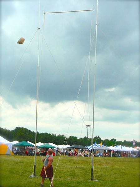 sheaf toss at smoky mountain scottish festival and games