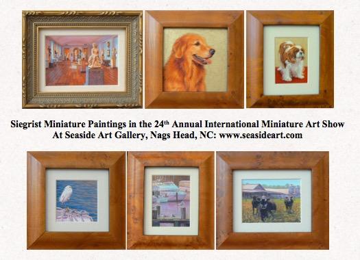 Siegrist paintings at Seaside Art Gallery 2015