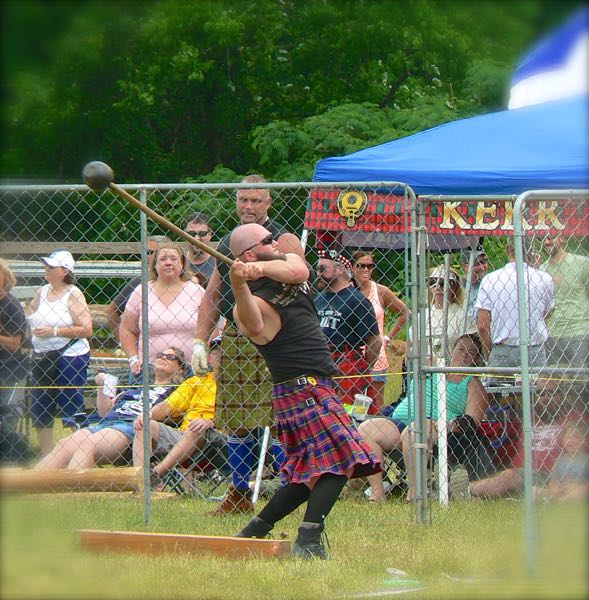 weight throw at smoky mountain scottish festival and games