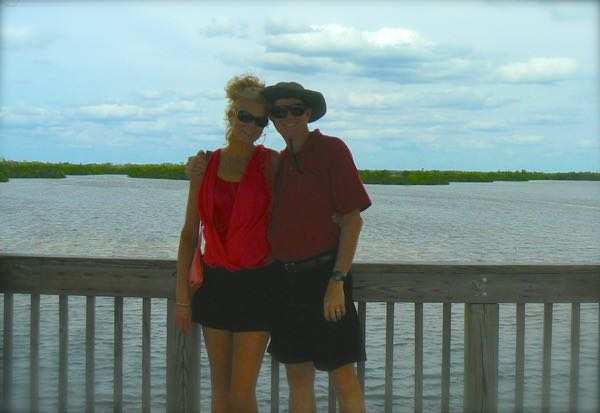 wes and rachelle siegrist at Ding Darling National Wildlife Refuge