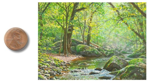 smoky mountain landscape paintingby_Wes_Siegrist