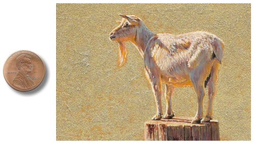 miniature goat painting_by_Wes_Siegrist