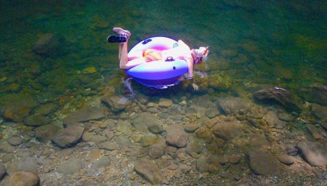 rachelle siegrist hillbilly snorkeling in tremont