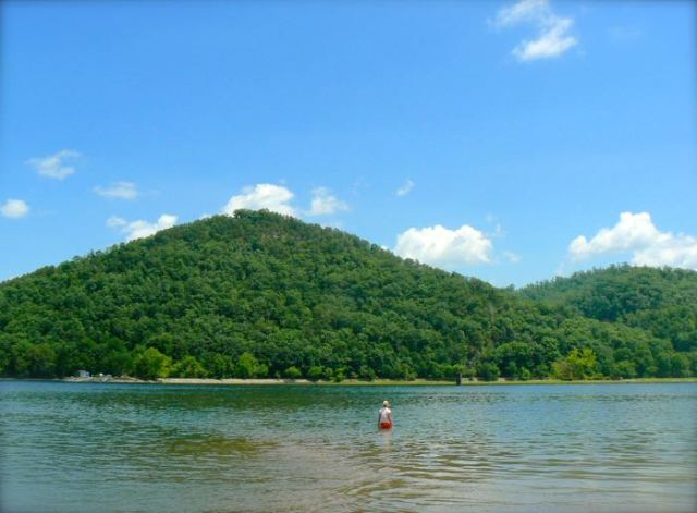 rachelle siegrist swimming in chilhowee lake